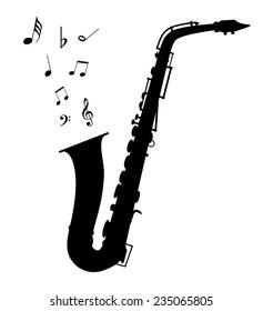 Vector saxophone - Illustration EPS-10