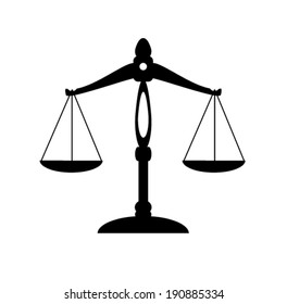 vector scale of justice silhouette