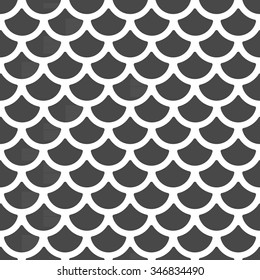 Vector scale pattern, seamless background