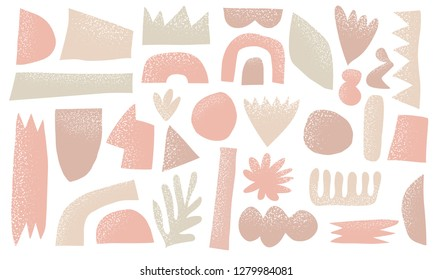 Vector scandinavian background with nude colors