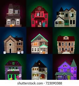 Vector Scary Horror House Dark Castle Stock Vector Royalty Free
