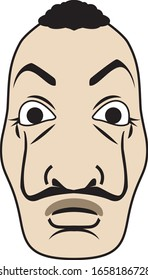 vector scary man with mustache mask