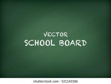 Vector school blank green chalkboard, background
