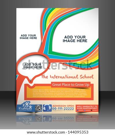 vector school brochure flyer magazine cover stock vector royalty