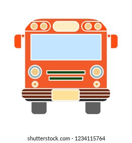 vector school bus isolated icon - automobile transportation illustration symbol . school truck sign symbol