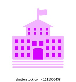 vector school house. college building isolated. school education icon