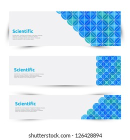Vector science banners set