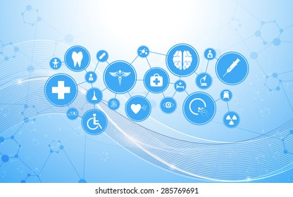 vector science medical health care concept background
