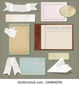 Vector scrapbooking paper set