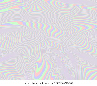 Vector screen glitch texture. Holographic background, with pastel colors.