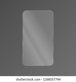 Vector screen protector film or glass cover. Screen protect 16x9.