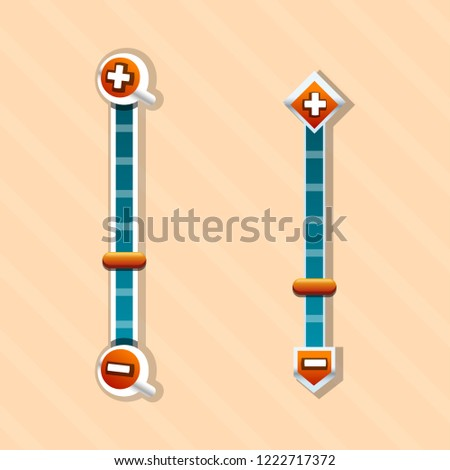 Vector Scroll Bar Zoom Buttons Resource Stock Vector Royalty Free