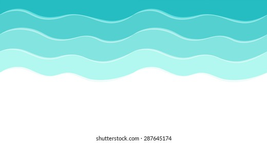 Vector sea background with abstract waves