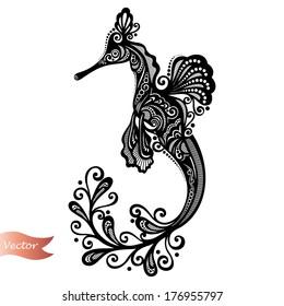 Vector Sea Dragon. Patterned design
