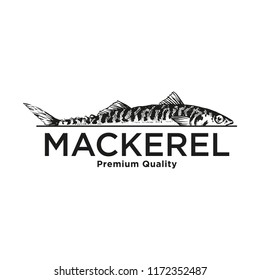 Vector Sea Sign Elements can be used as Logo or Icon in premium quality. Mackerel, Scomber.