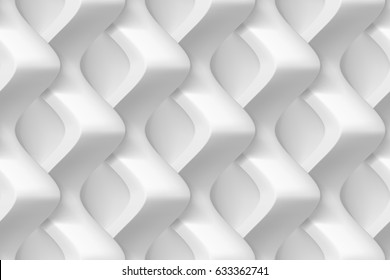 Vector seamless abstract geometric 3d waves pattern