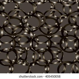 Vector seamless abstract pattern with circles