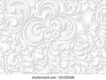 Vector seamless abstract pattern. Paper style.