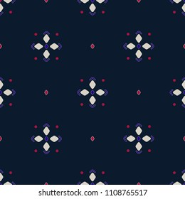 vector seamless abstract simple geometric pattern. foulard. stars and dots