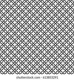 Vector Seamless Arabic Pattern in black