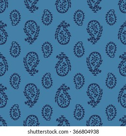 vector seamless artistic graphical original orient paisley pattern. spring summer time, holidays, oriental flower background print, leaves, nature, organic motifs.