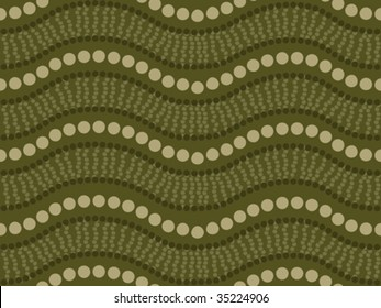 Vector seamless background aboriginal style symbolic design.