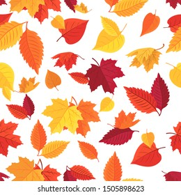 Vector seamless background of autumn leaves. Background for textile or book covers, Wallpaper, design, graphics, printing, hobby, invitation.Vector illustration EPS 10