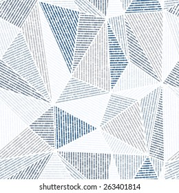 Vector seamless background. Blue and gray modern texture. Abstract pattern