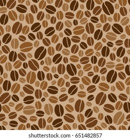 vector seamless background with coffee beans