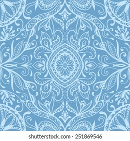 Vector seamless background, detailed lace pattern, tribal ethnic ornament, fabric texture, hand drawn fashion artwork