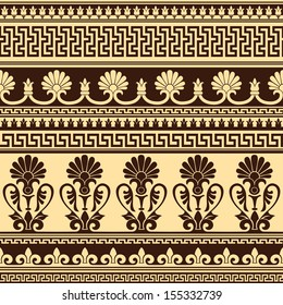 vector seamless background with greek design pattern