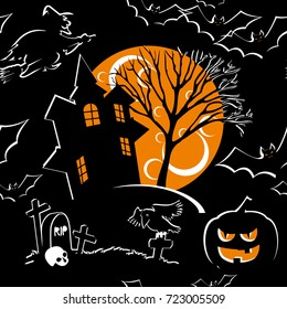 vector seamless background for halloween design