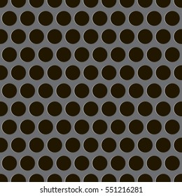 Vector seamless background of perforated metal