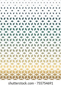 Vector Seamless Black and White Gradient Halftone Pattern from triangles. Gradient of the sea and sand