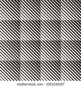 Vector seamless black and white halftone lines grid pattern. Abstract geometric retro background design.