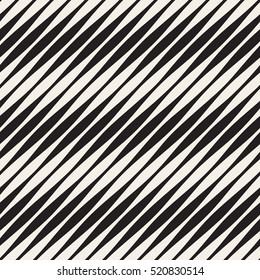 Vector Seamless Black and White Halftone Diagonal Lines Pattern. Abstract Geometric Background Design.
