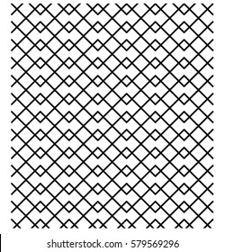 Vector Seamless Black And White  ZigZag Horizontal Lines Geometric Pattern. Background Design