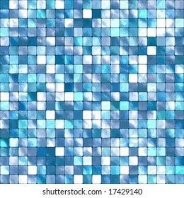 Vector Seamless Blue Tiles Background, See Also Jpeg In My Portfolio