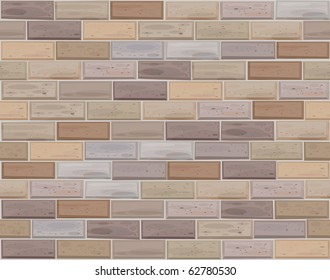 Vector seamless brick wall made of white bricks.