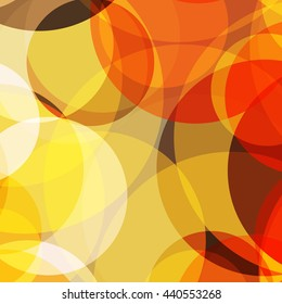 Vector seamless bright abstract background with warm colors