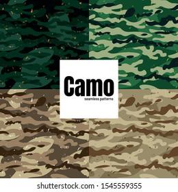 Vector seamless camo military army fatigue pattern design