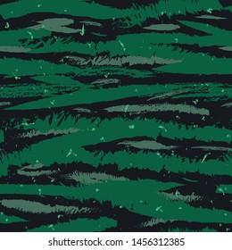 Vector seamless camo tiger stripe army fatigue pattern design