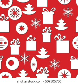 Vector seamless christmas background.