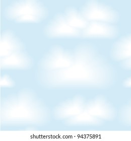 Vector seamless clouds background. Eps 10