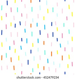 Vector seamless cute and funky pattern of dashes