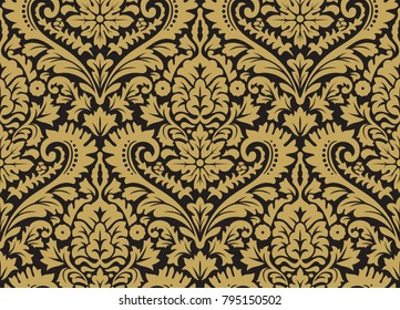 Vector seamless damask pattern. Rich ornament, old Damascus style pattern for wallpapers, textile, Scrapbooking etc.