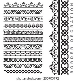 Vector Seamless Decorative Borders