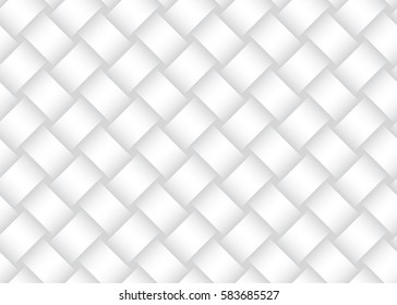Vector seamless decorative pattern of braided bands. White texture.
