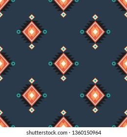 Vector seamless decorative pattern in ethnic style. Geometric background for printing on paper, wallpaper, covers, textiles, fabrics, for decoration, decoupage, scrapbooking and other