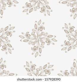 Vector Seamless floral background Illustration